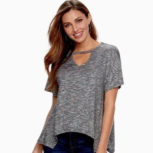Juicy Couture Gray keyhole tshirt